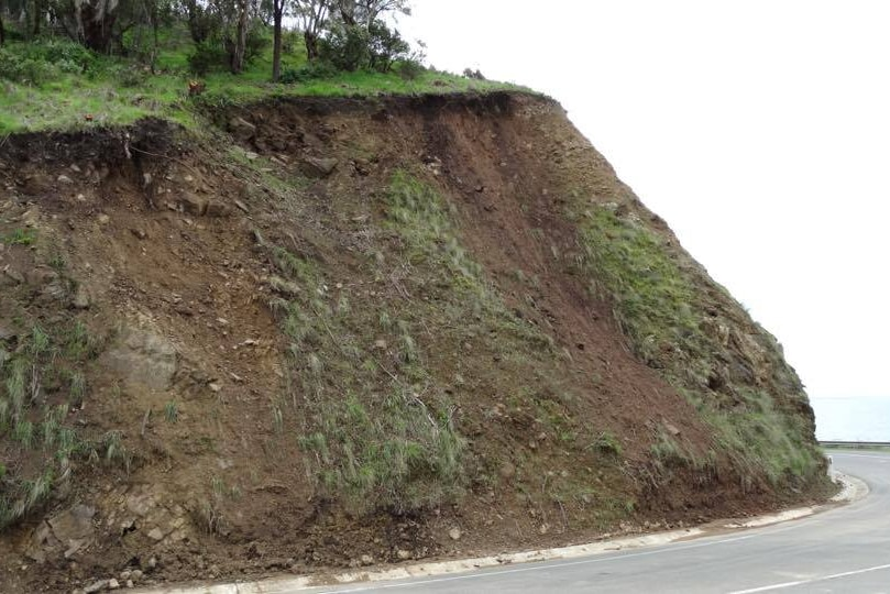 The side of the road near Lorne after heavy rains