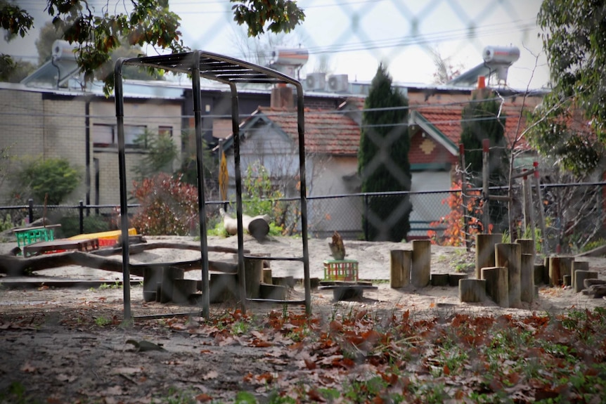 An empty playground at a Melbourne primary school.