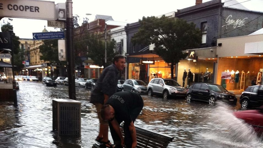 Diners leap for higher ground on Chapel Street