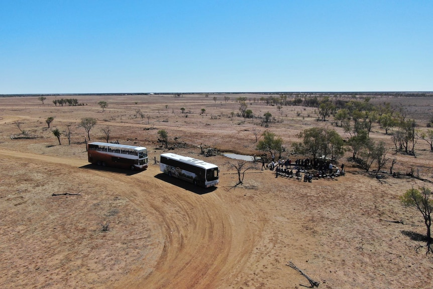 Harry Readford's story still draws a crowd to Nogo Station, outside Longreach