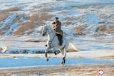 Kim on horse galloping