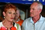 Steve Dickson and One Nation leader Senator Pauline Hanson speak to the media