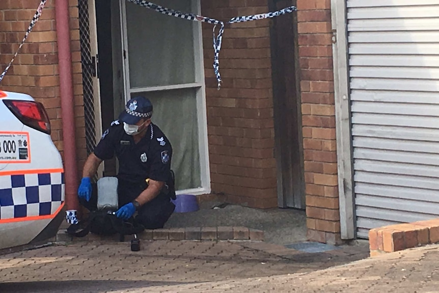 The townhouse at Northgate on Brisbane's northside where the child girl suffered serious burn injuries.