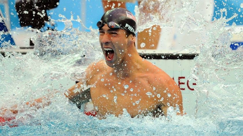 The greatest ever Olympian: Michael Phelps.