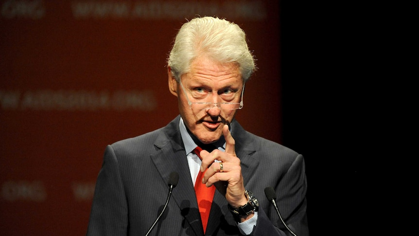 Bill Clinton addresses AIDS conference in Melbourne
