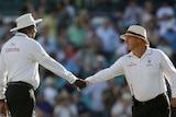 LtoR Umpires Steve Bucknor and Mark Benson