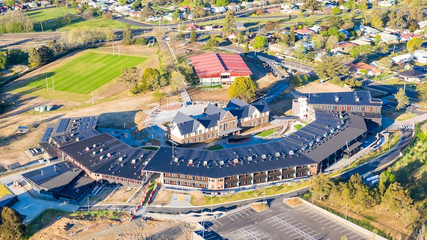 An aerial view of the Armidale Secondary College