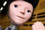 Robot with a slight human face