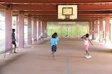 Children playing at Aurukun school