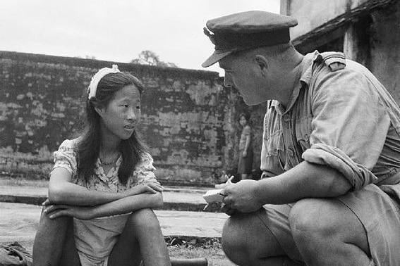 Comfort girl awaits interrogation