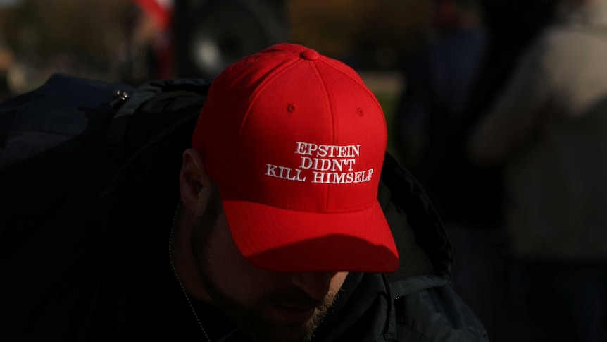 A MAGA-style hat.