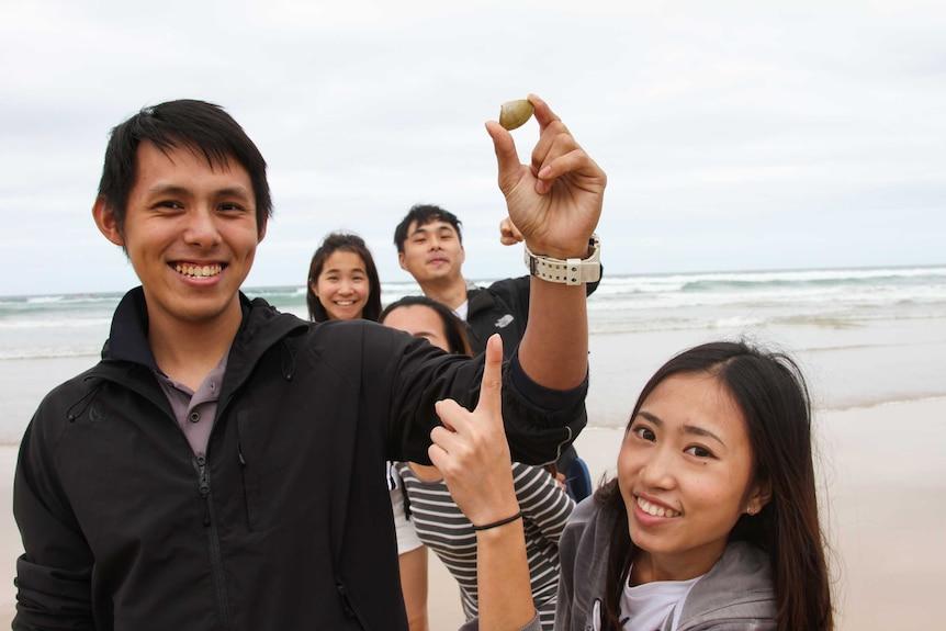 A group of tourists.