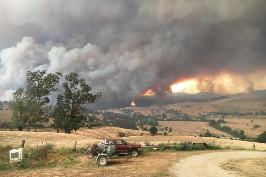 Fires reached Buchan in Victoria.