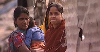 Indian slum custom image