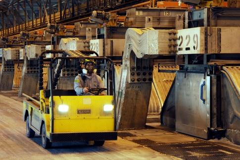 Inside the Boyne Smelter operation