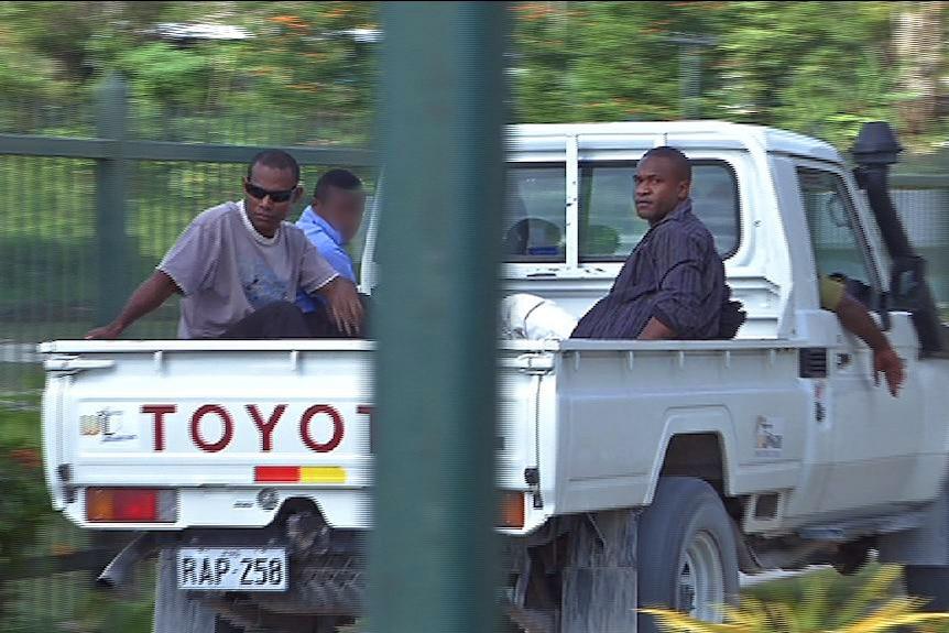 Manus Island detention centre workers Louie Efi and Joshua Kaluvia