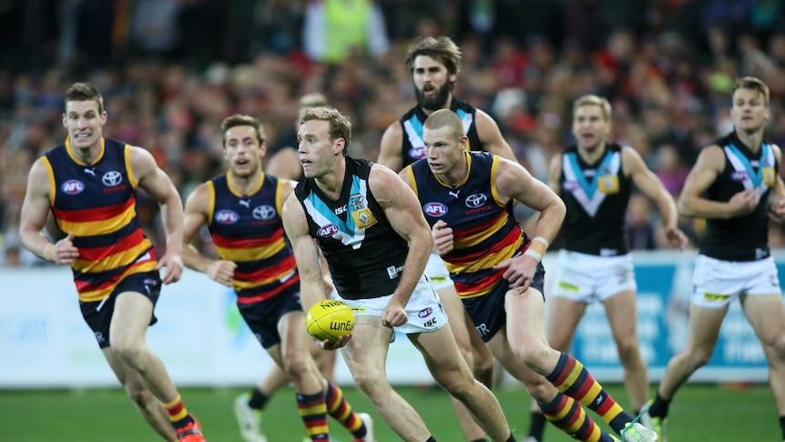Adelaide Crows v Port Adelaide showdown at Adelaide Oval 2014