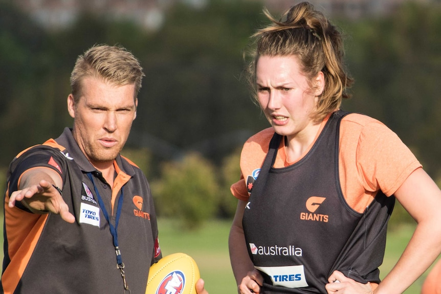 Erin McKinnon at GWS Giants training