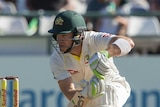 Tim Paine bats in Cape Town