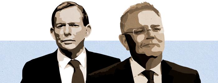 Former Prime Minister Tony Abbott and Prime Minister Scott Morrison.