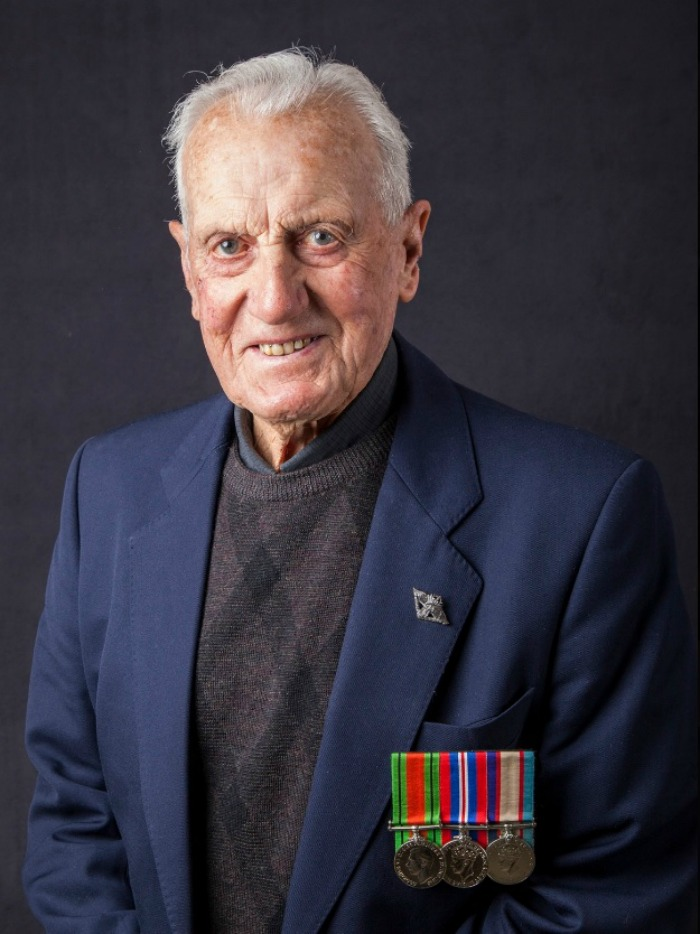 Veteran Cyril Allen took part in the Reflections project documenting past Australia military people.