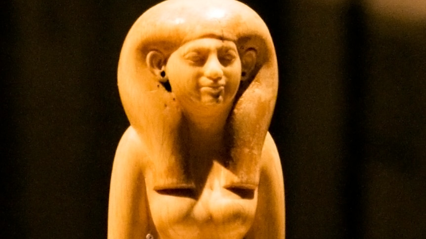 An ivory statue of Tadja, an Egyptian girl who was buried in Abusir el-Meleq