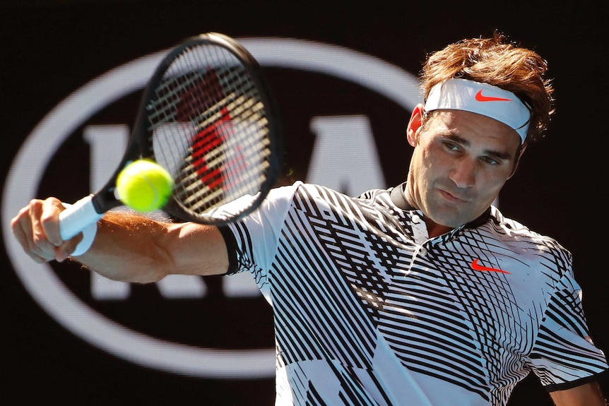Roger Federer and his majestic backhand