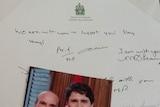 Justin Trudeau card to Degas