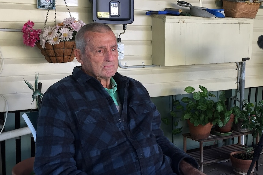 74-year-old Percy Verrall at his home in Ipswich