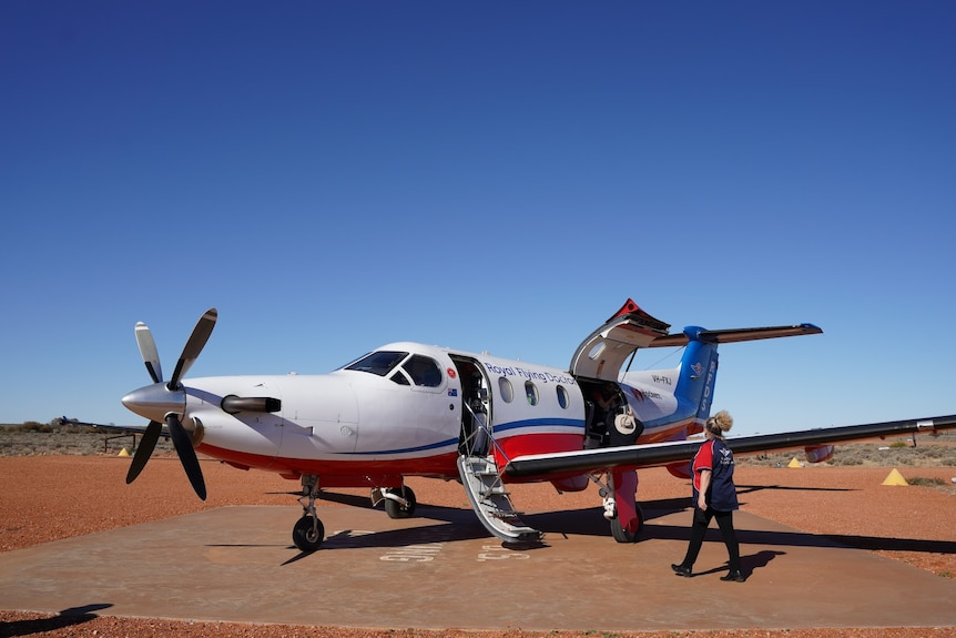 A small plane on a runway
