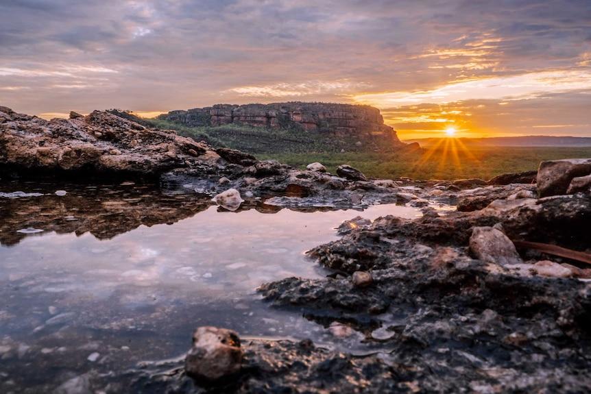 The sun sets over Kakadu National Park.