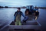 Tasmanian oyster farmer Josh Poke at Pittwater