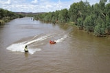 The Jet ski gets a workout at Henbury Station with the tube attached and full of people