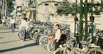 A streetscape of Saigon, 1956.