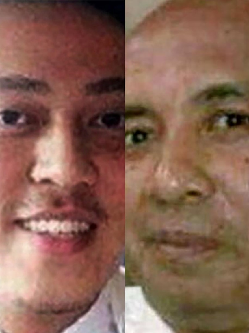 LtoR Malaysia Airlines MH370 first officer Fariq Abdul Hamid and captain Zaharie Ahmad Shah.