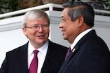 Kevin Rudd meets Susilo Bambang Yudhoyono