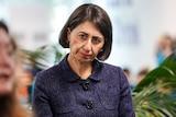 Gladys Berejiklian wearing a purple jacket