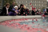 People fell silent for two minutes to remember those who fought and gave their lives in the 1914-1918 conflict.