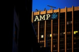 AMP building with logo.