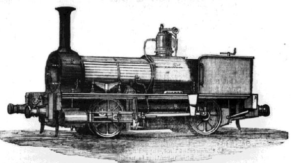 A drawing of the Ballaarat locomotive, built in Ballarat in 1871.