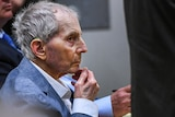 Real estate heir Robert Durst sits during his murder trial at the Airport Branch Courthouse in Los Angeles