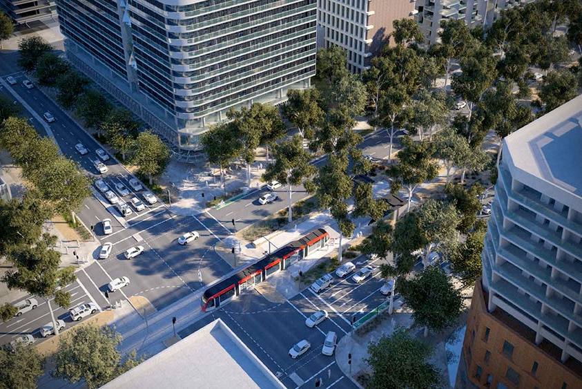 An artists impression of the intersection.