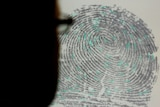 Generic shot of a fingerprint being analysed