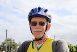 Perth cyclist Roger Tomlins on his bike on a Maylands cycle path