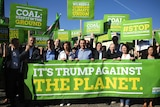 Germany's Green Party react to Donald Trump's decision to exit the Paris climate agreement.