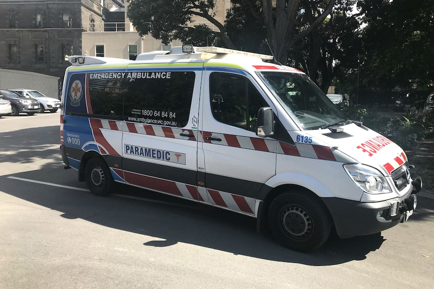 An ambulance is called for Victorian Upper House MP Daniel Mulino, after he suffered a medical emergency at Parliament.