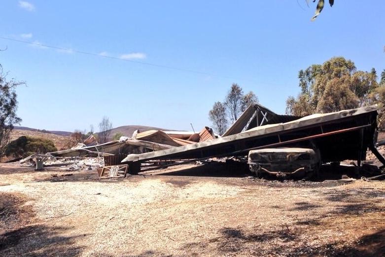 Home burnt in Eden Valley