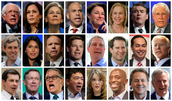 Some of the Democrats running for president in 2020.