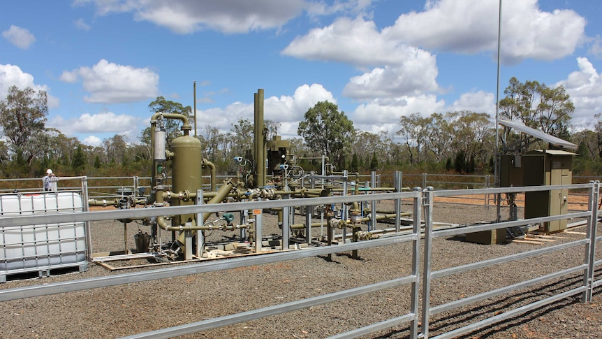 Santos CSG well at the Narrabri Gas Project.