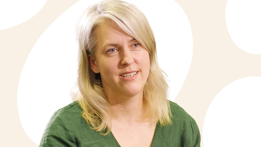 Clinical psychologist Alexandra Howard, pictured against an illustrated background.